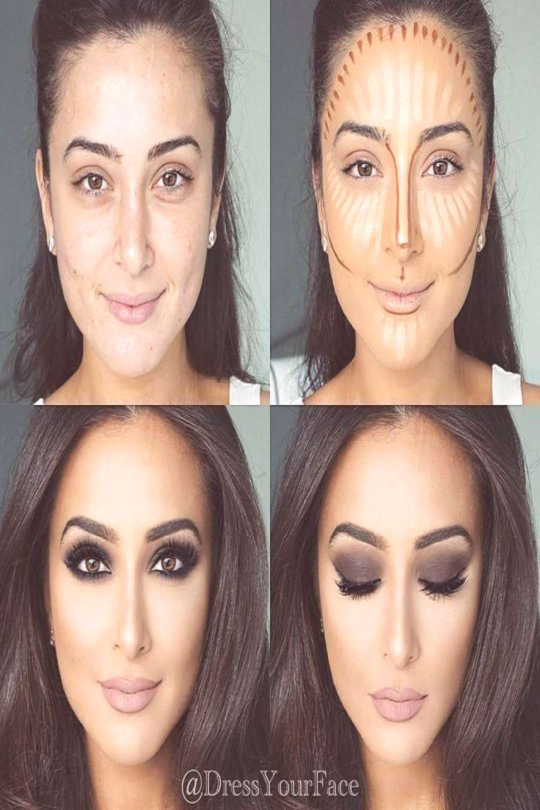 -  Contouring, highlighting and baking in your makeup -