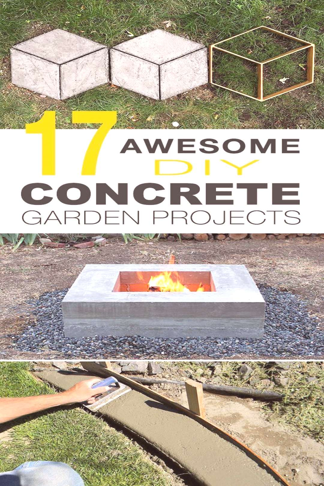 17 Awesome DIY Concrete Garden Projects! • Outdoor concrete table, concrete planter, concrete ste