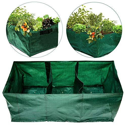 28 Gallon Exlarge Plastic Raised Planting Bed with 3