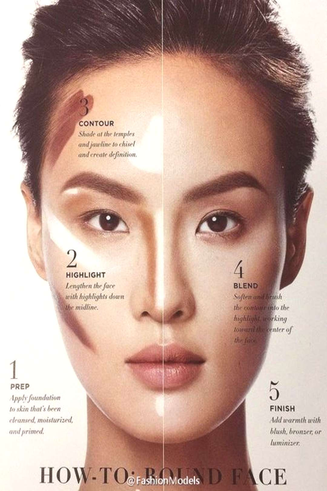 33 ideas for makeup tutorial contouring round face#contouring