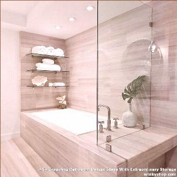 45+ Inspiring Bathroom Design Ideas With Extraordinary Storage ✓ 45+ Inspiring Bathroom Design Id