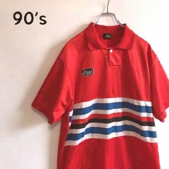 90's old clothes asics retro game shirt pullover futsal (ebay link)