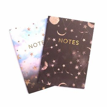 A6 'Constellations' notebook set with gold foil -  Constellation Stars Notebook Series by Nikkistra