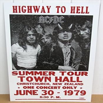 AC/DC Concert Poster 1979 Tour New Zealand Highway to Hell