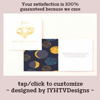 Aries Astrology | Personalized Zodiac Sign Foil Card - What sign are you?