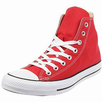 Chuck Taylor All Star Canvas High Top, Red, 7.5