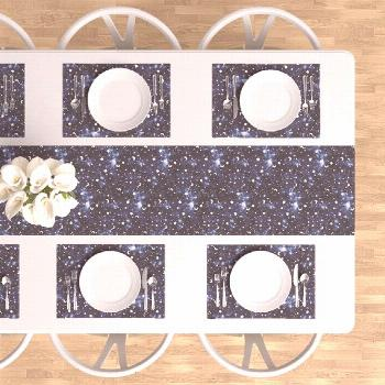 Constellations Placemats (Set of 4) - Zodiac Dark Blue by mjmstudio - Galaxy Cloth Placemats ... Co