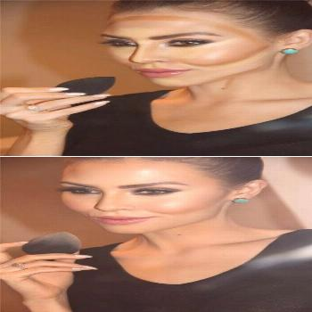Contouring and highlighting used to be something (basically) only Kim Kardashian...,  Contouring an