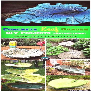 Easy and Fun Ideas to Create These Big Concrete Leaf Garden Projects via @diyhowto