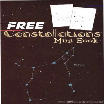 FREE Constellations Book - this free printable star constellations book makes learning about stars