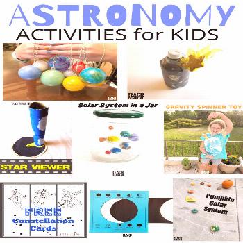 Fun kids astronomy activities for teaching~ space, solar system, moon phases, constellations and mo