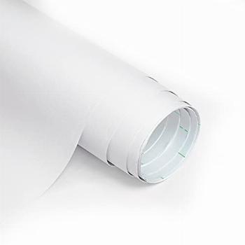 Homease Solid White Wallpaper 24 x 196 inch Thick Matte