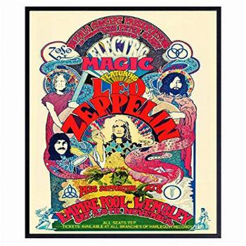 Led Zeppelin Poster - 8x10 Psychedelic Room Decor - Led