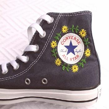 Logo Floral Converse Broderie Logo Floral Converse Broderie