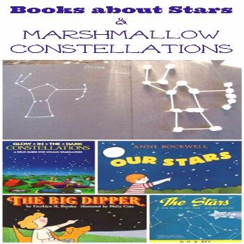 Marshmallow Star Constellations for Kids - Learn about the night sky with these great books and the