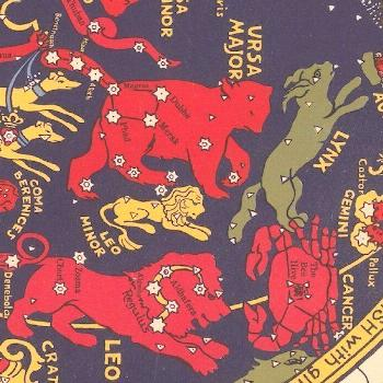"nemfrog: ""Ursa Major, Leo and nearby constellations. Star Map. About 1930. "",  nemfrog: ""Ursa"