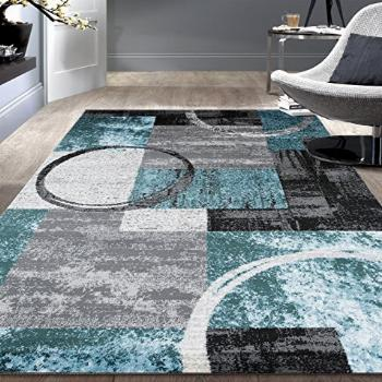 Rugshop Contemporary Abstract Circle Design Soft Area Rug