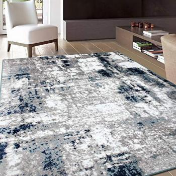 Rugshop Contemporary Abstract Distressed Area Rug 7'10