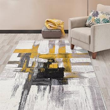 Rugshop Contemporary Modern Abstract Area Rug 7' 10