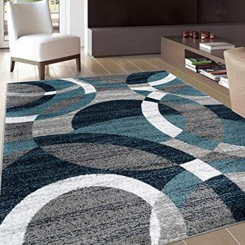 Rugshop Contemporary Modern Circles Abstract Area Rug 7' 10
