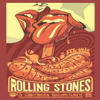 THE ROLLING STONES SUMMER 2016 GIG POSTER. Jofre Conjota on Behance Cheak it out. /... on Behance