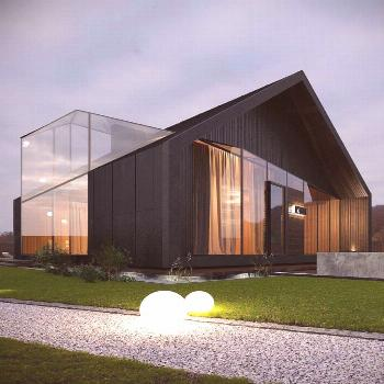 The use of light colors and big windows are typical to designing contemporary houses