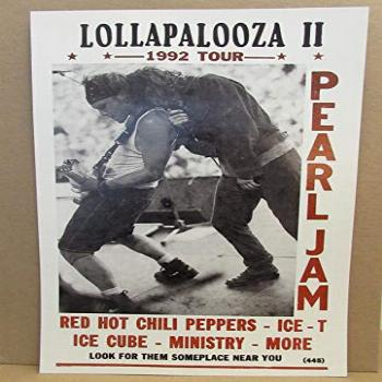 Vintage Lollapalooza 1992 Concert Poster Red Hot Chili