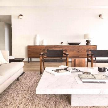 White coffee table contemporary vibes