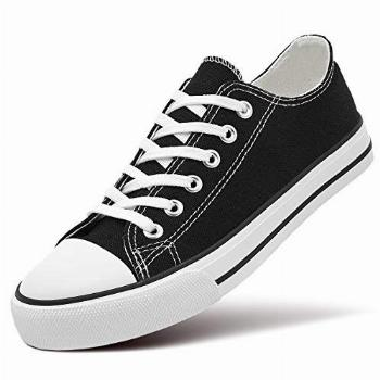 ZGR Women's Canvas Low Top Sneaker Lace-up Classic Casual