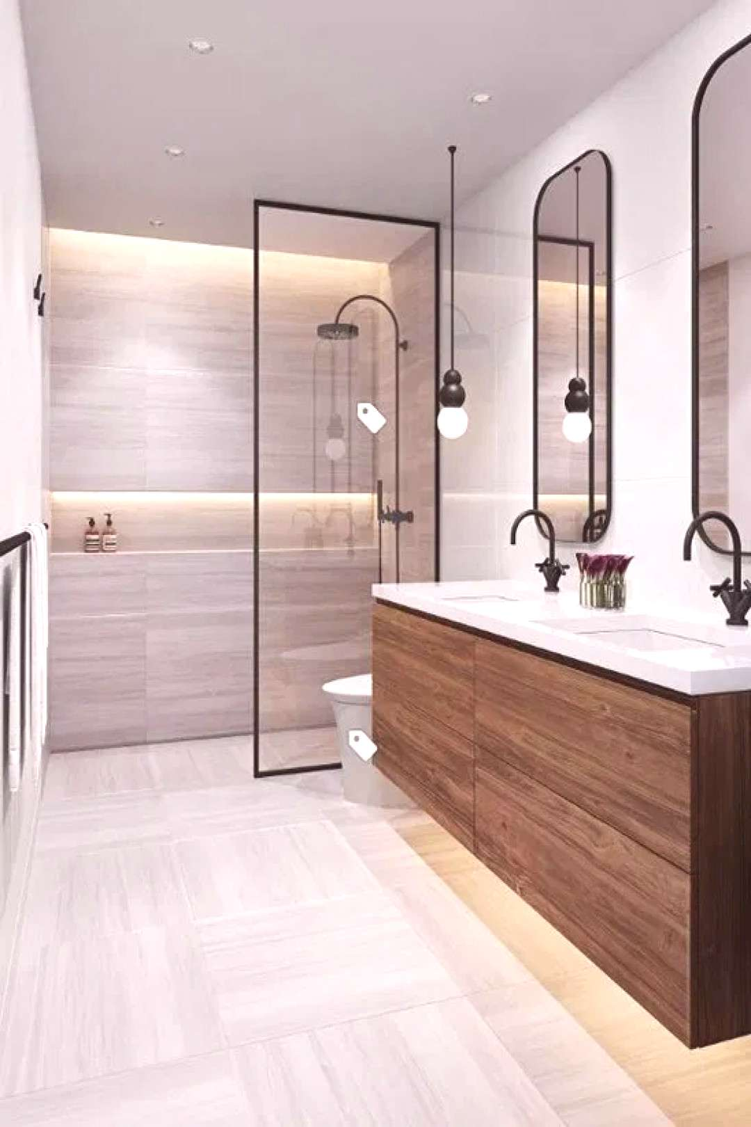 44 magnificient scandinavian bathroom design ideas that looks cool 28 | Bloghenni.online