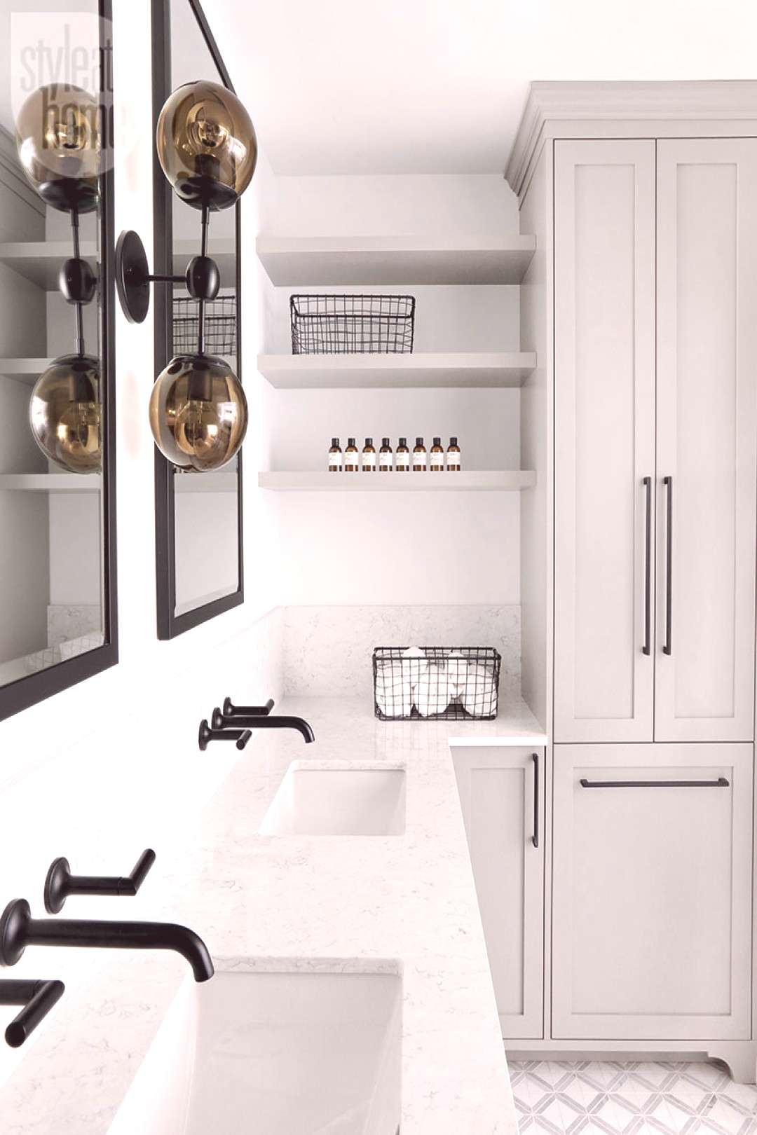 A cool contemporary bathroom   Style at Home