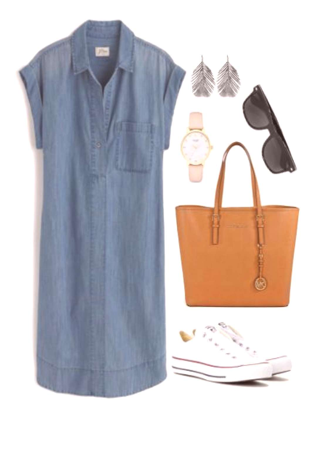 A white Converse outfit is both stylish and comfortable. Youll be ready for traveling, running erra