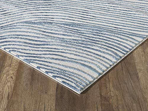 Abani Rugs Contemporary Wave Print 7 9quot x 10 2quot Rectangle
