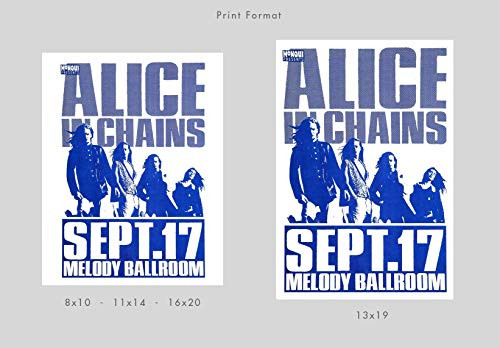 Alice In Chains 1992 Concert Poster Print by delovely Arts
