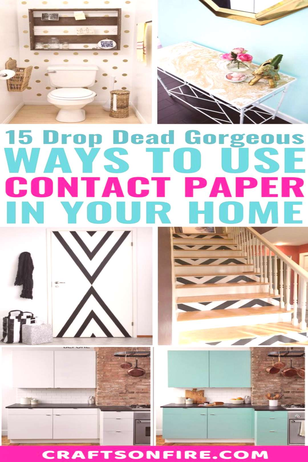 Amazing ways to use contact paper and make your home decor look stunning! These tutorials are also