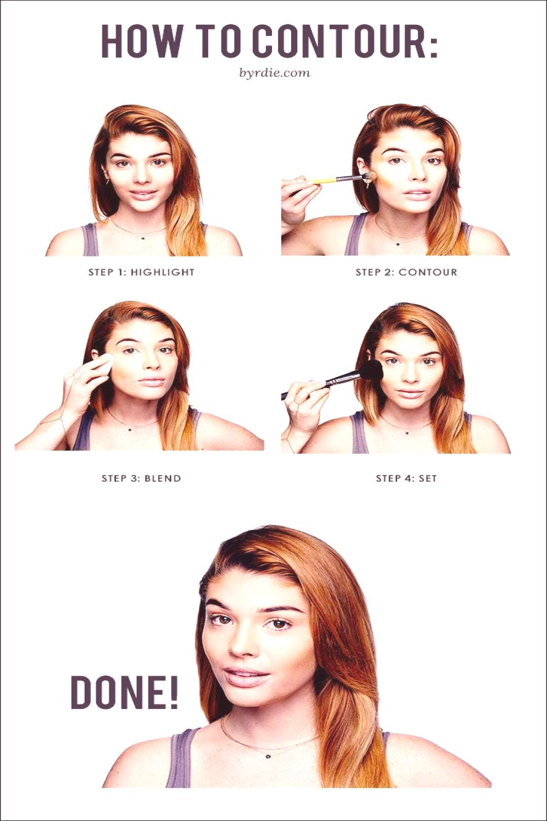 An easy how-to guide to contouring from celebrity makeup artist Lauren Andersen. // tips