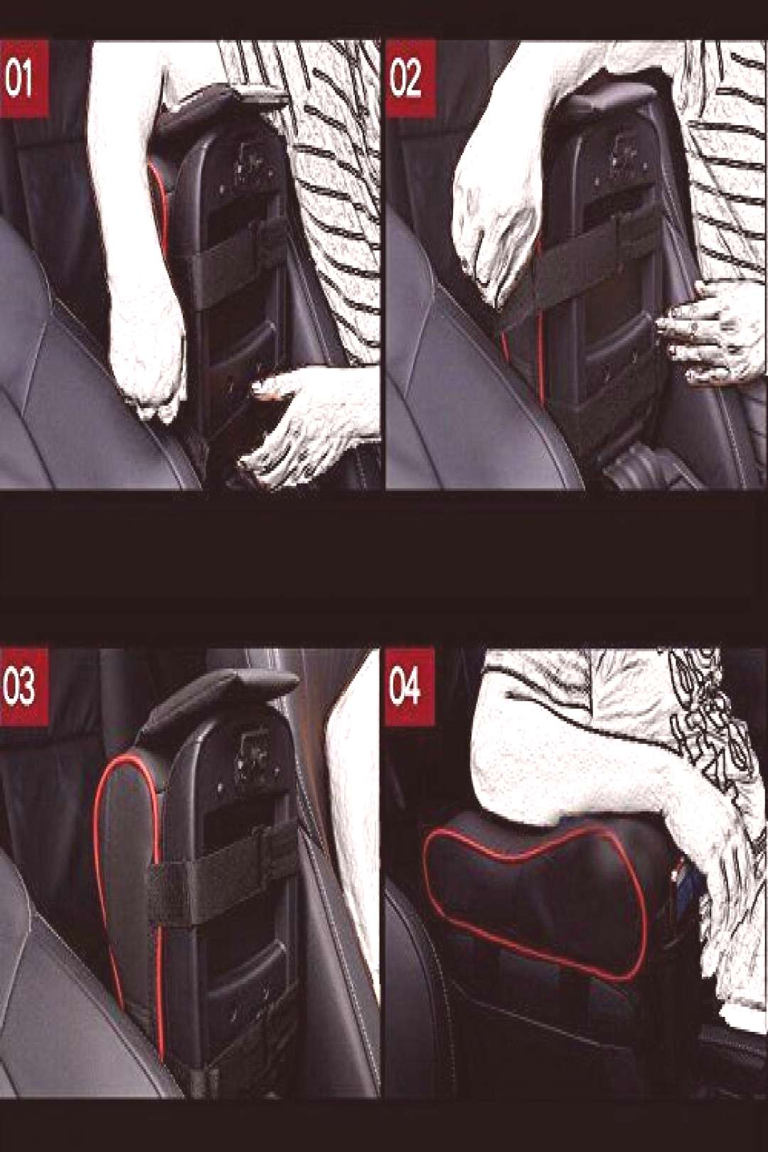 Armrest Center Consoles Cushion Cover for Toyota Camry Most Cars Suvs Best Price Car Parts Online#a
