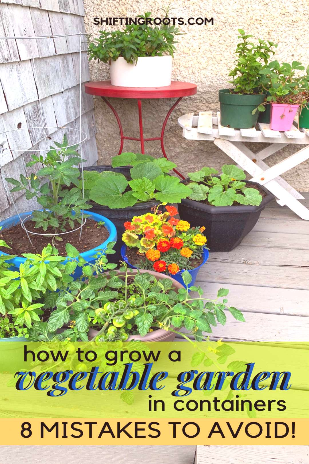 Avoid These 8 Mistakes for a Better Vegetable Container Garden You can grow a vegetable garden even