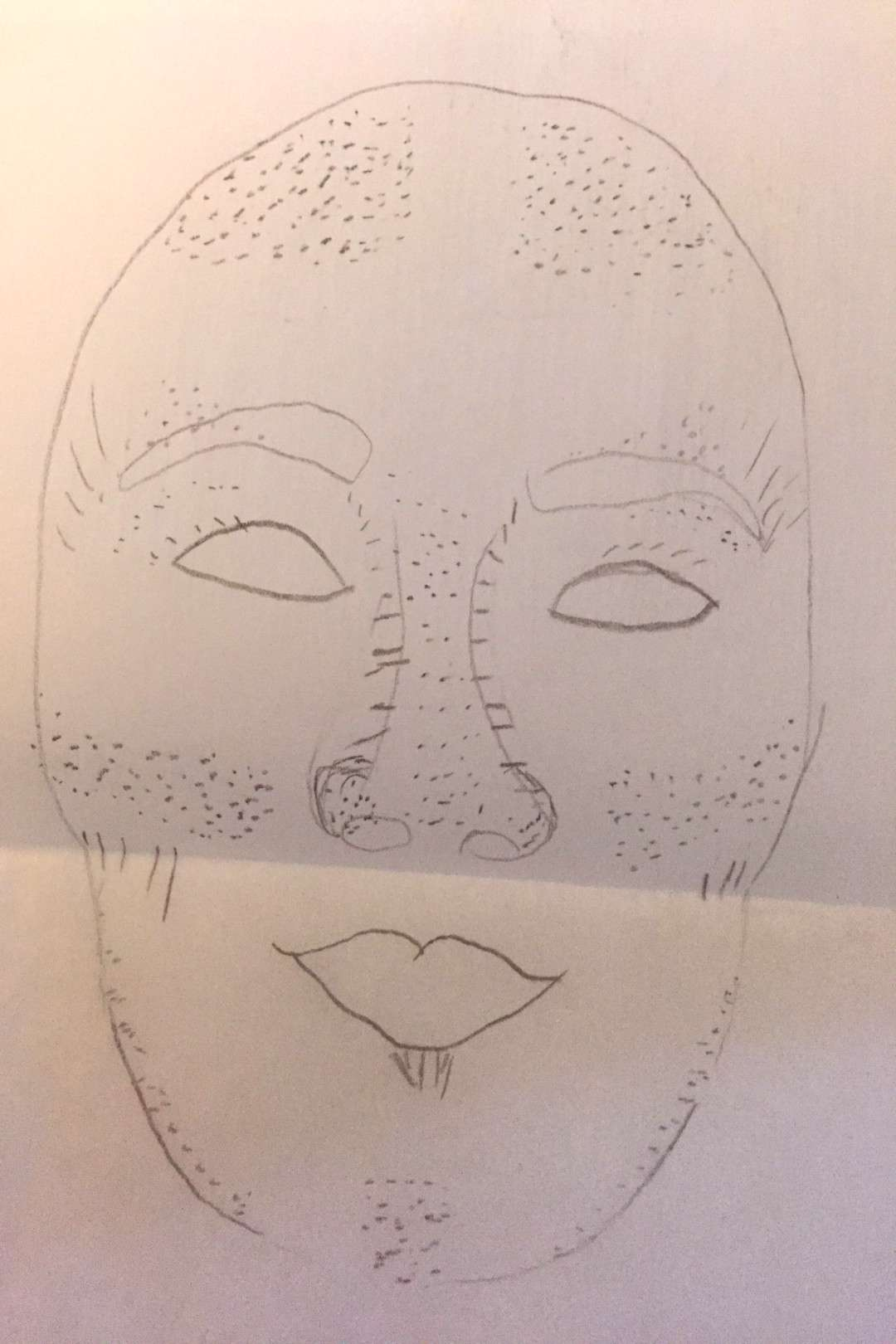 Basic contouring. Dots=highlight lines=shadow -