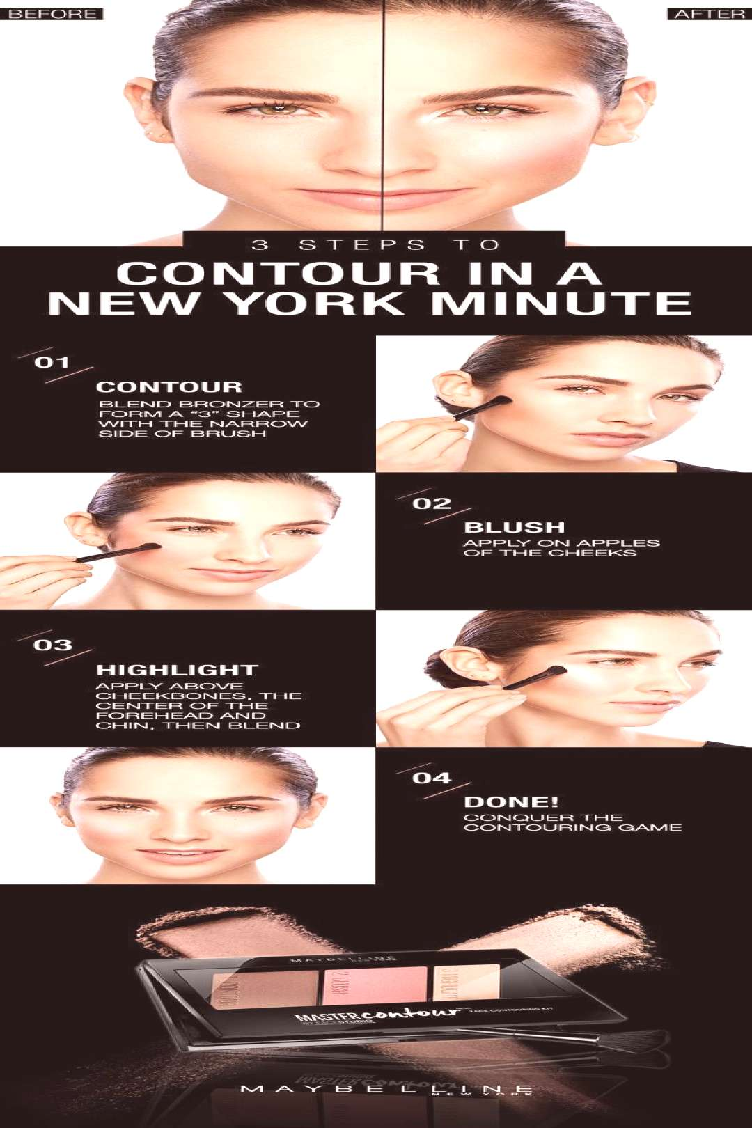 Beauty Basics Easy Contouring Tutorial For Busy Ladies#basics