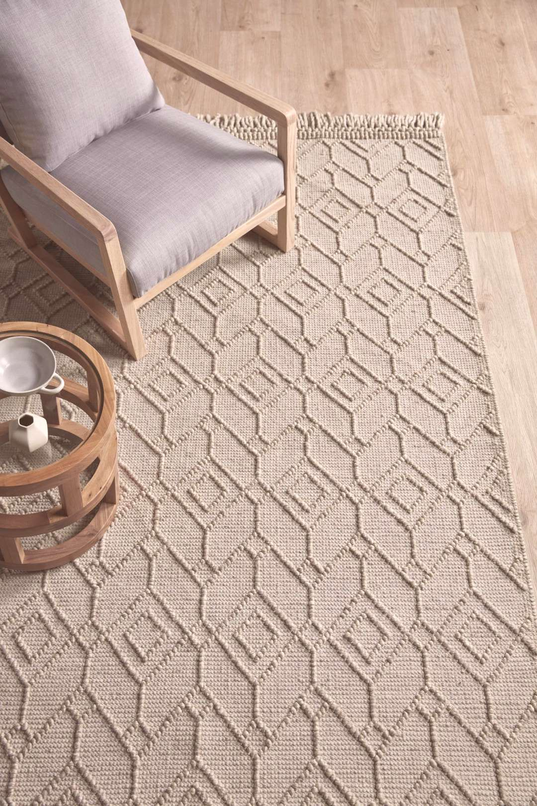 Beige Terra Hand-Woven Wool Rug Made from 100% wool, this luxuriously soft rug is exactly what you
