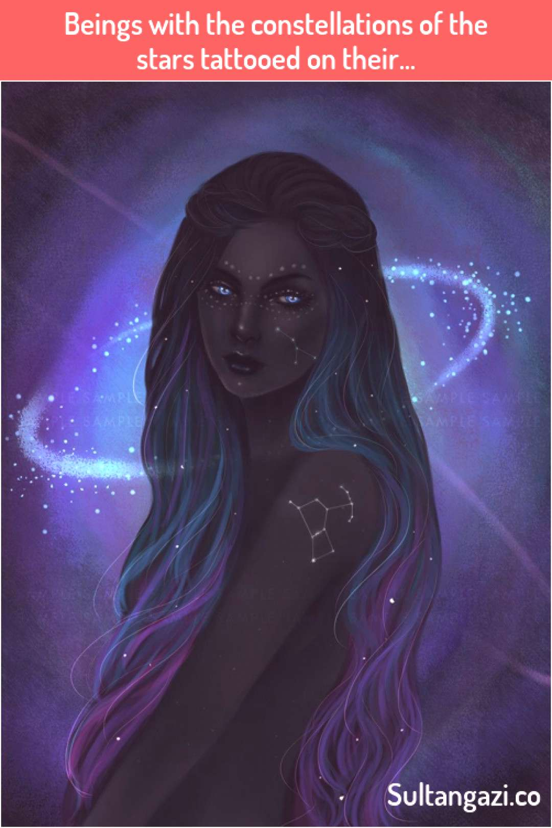 Beings with the constellations of the stars tattooed on their  Beings with the constellations of