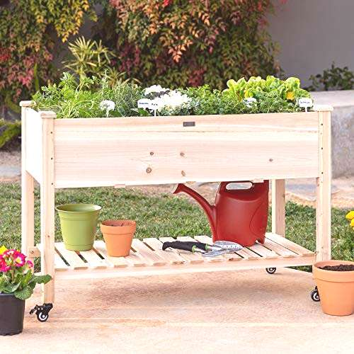 Best Choice Products Raised Garden Bed 48x24x32-inch Mobile