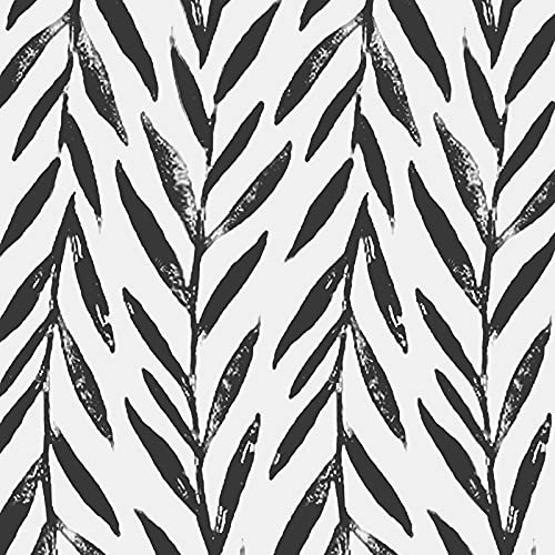 """Black and White Peel and Stick Wallpaper 17.7""""x118"""""""