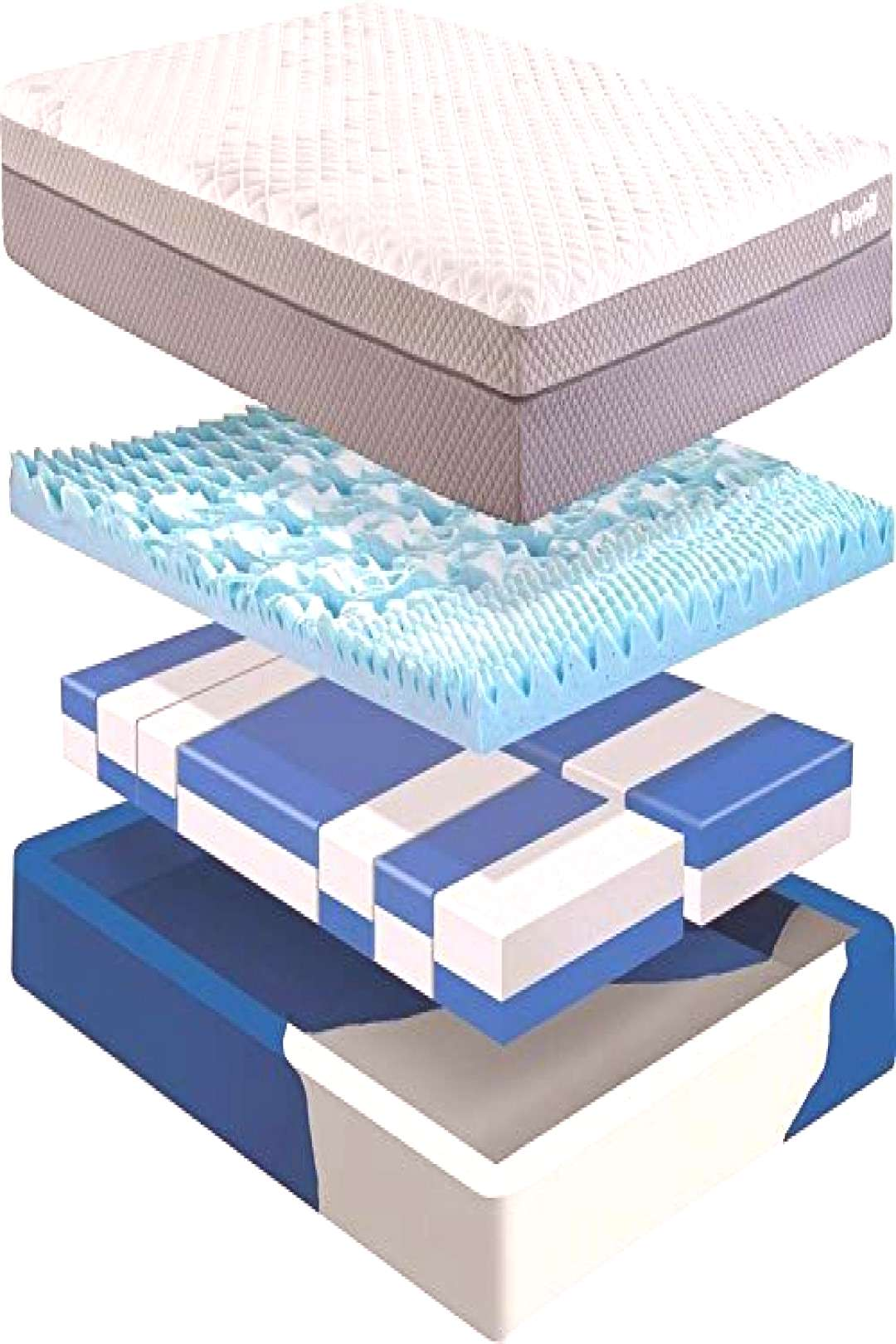 Buy Adjustable Memory Foam Cube Mattress Contouring Gel-Infused Cooling Topper, Customize Your Bed