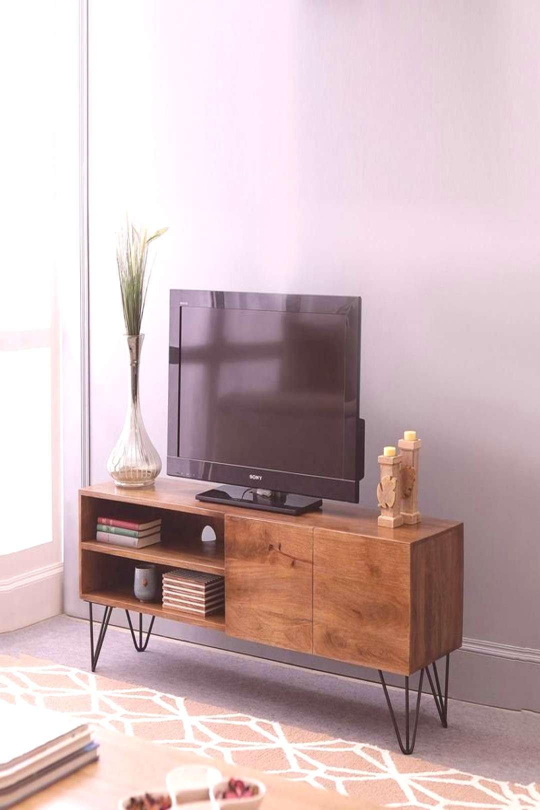 Buy Oslo Solid Wood TV Unit in Natural Finish by TheArmchair Online - Contemporary TV Consoles -