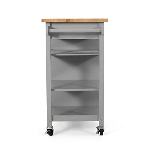 Christopher Knight Home Frances Contemporary Kitchen Cart