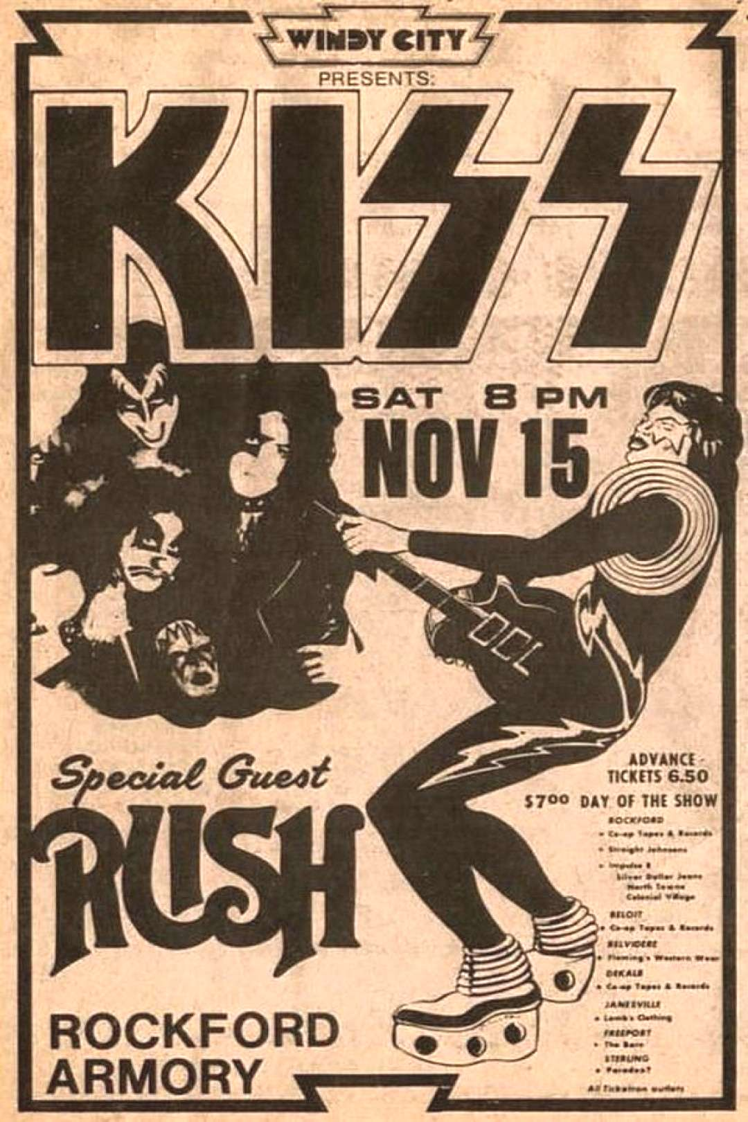 Concert Poster – KISS with Rush Concert Poster – KISS with Rush