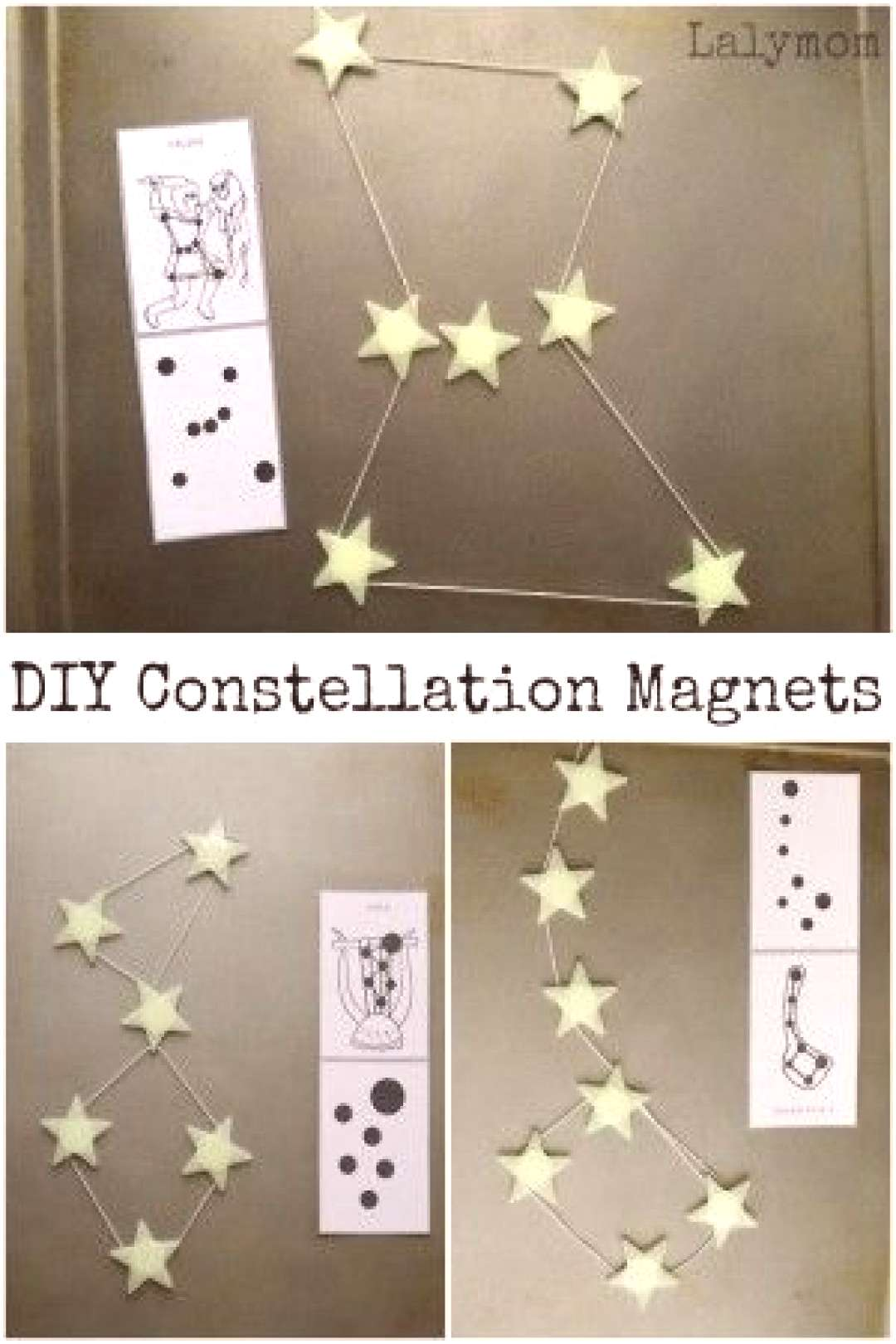 Constellations for Kids - Connecting DIY Star Magnets Add a fun spin to learning constellations wit