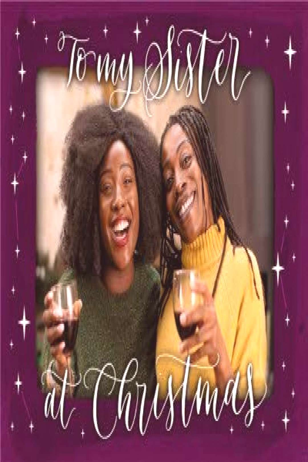 Constellations Sister Photo Upload Christmas Card ,